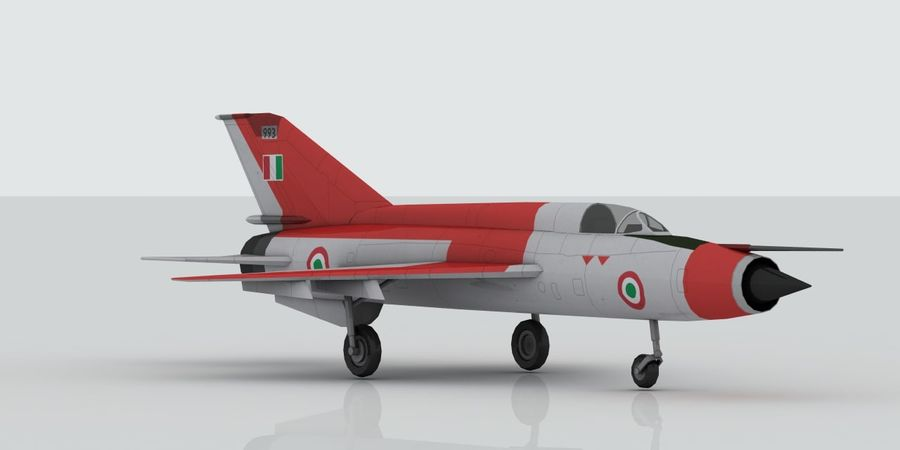 Mig 21 Italia royalty-free 3d model - Preview no. 3