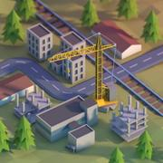 City development area low poly 3d model