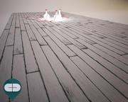 黑色木地板漆 3d model
