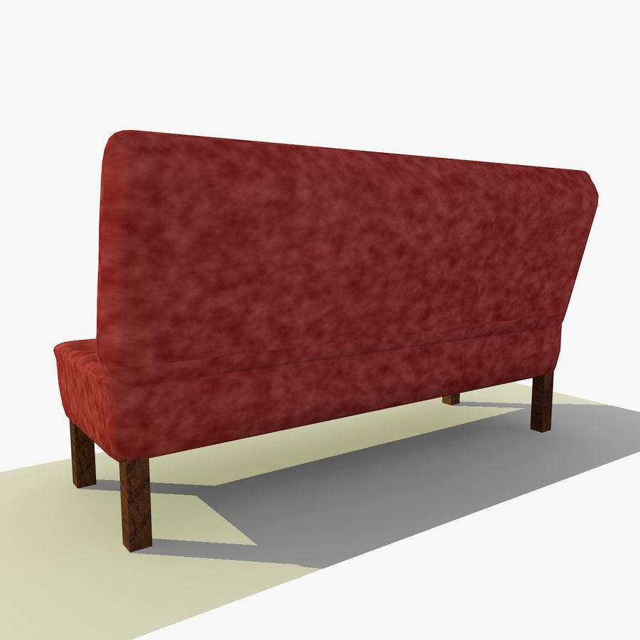 Modern Buttoned Sofa Chair royalty-free 3d model - Preview no. 4