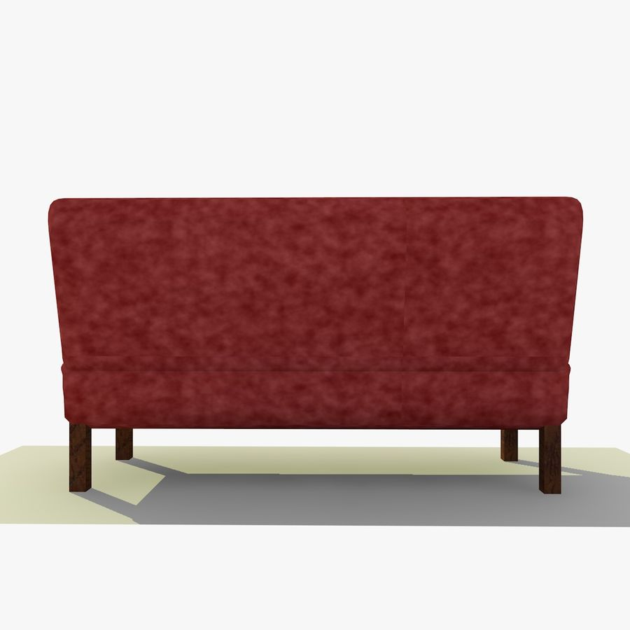 Modern Buttoned Sofa Chair royalty-free 3d model - Preview no. 5
