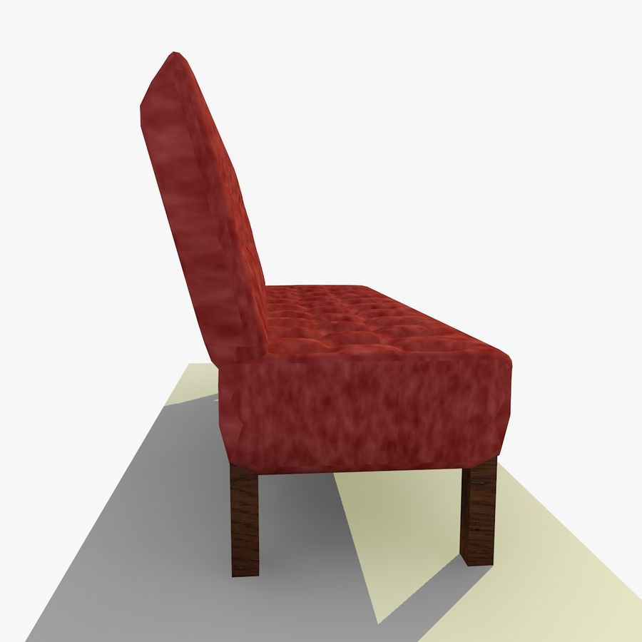 Modern Buttoned Sofa Chair royalty-free 3d model - Preview no. 7