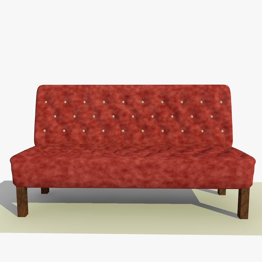 Modern Buttoned Sofa Chair royalty-free 3d model - Preview no. 1