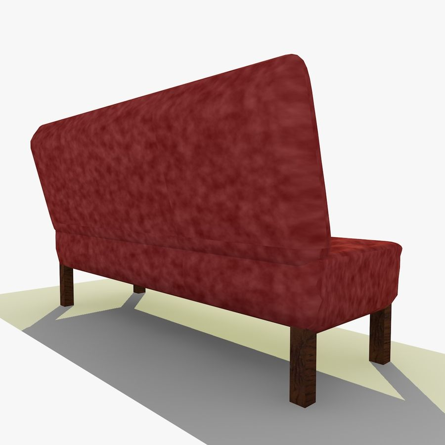 Modern Buttoned Sofa Chair royalty-free 3d model - Preview no. 6