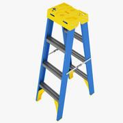双面梯子01 3d model