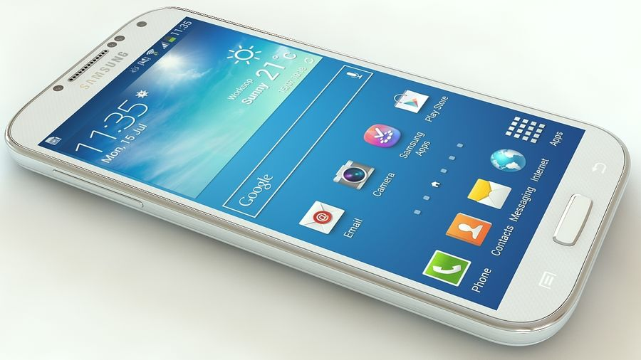 Samsung Galaxy S4 royalty-free 3d model - Preview no. 3