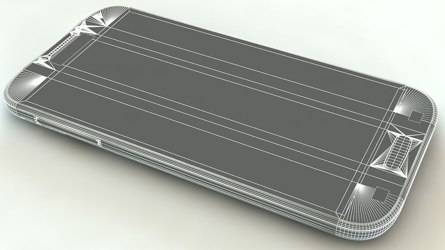 Samsung Galaxy S4 royalty-free 3d model - Preview no. 11