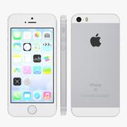 iPhone SEシルバー 3d model