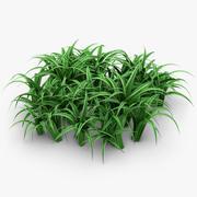 Grasblätter werfen 2 auf 3d model