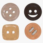 Bottoni di stoffa 3d model