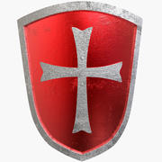 Shield Middle-Age Medieval 3d model