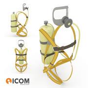 自给式呼吸器-Lowpoly 3d model