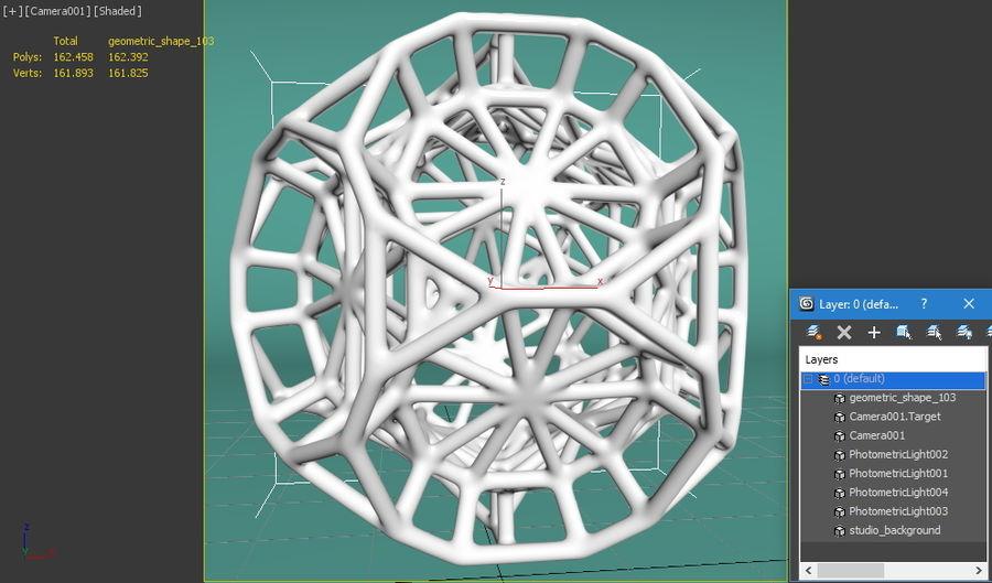 Geometrik Şekil 103 royalty-free 3d model - Preview no. 8
