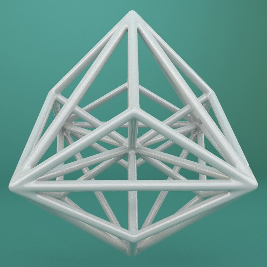 Geometric Shape 119 royalty-free 3d model - Preview no. 4