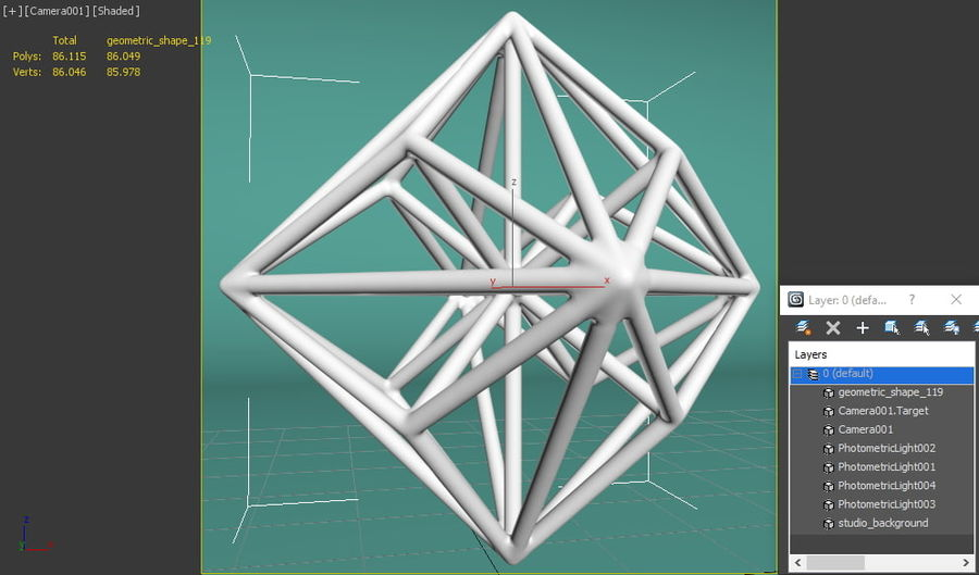 Geometric Shape 119 royalty-free 3d model - Preview no. 8