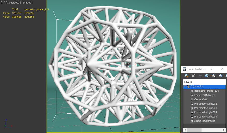 Geometric Shape 124 royalty-free 3d model - Preview no. 8