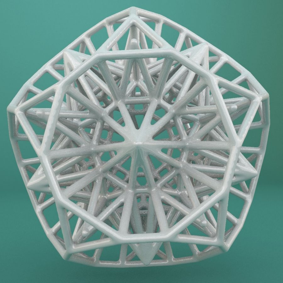 Geometric Shape 124 royalty-free 3d model - Preview no. 3