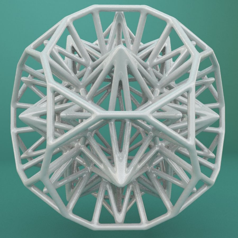 Geometric Shape 124 royalty-free 3d model - Preview no. 2