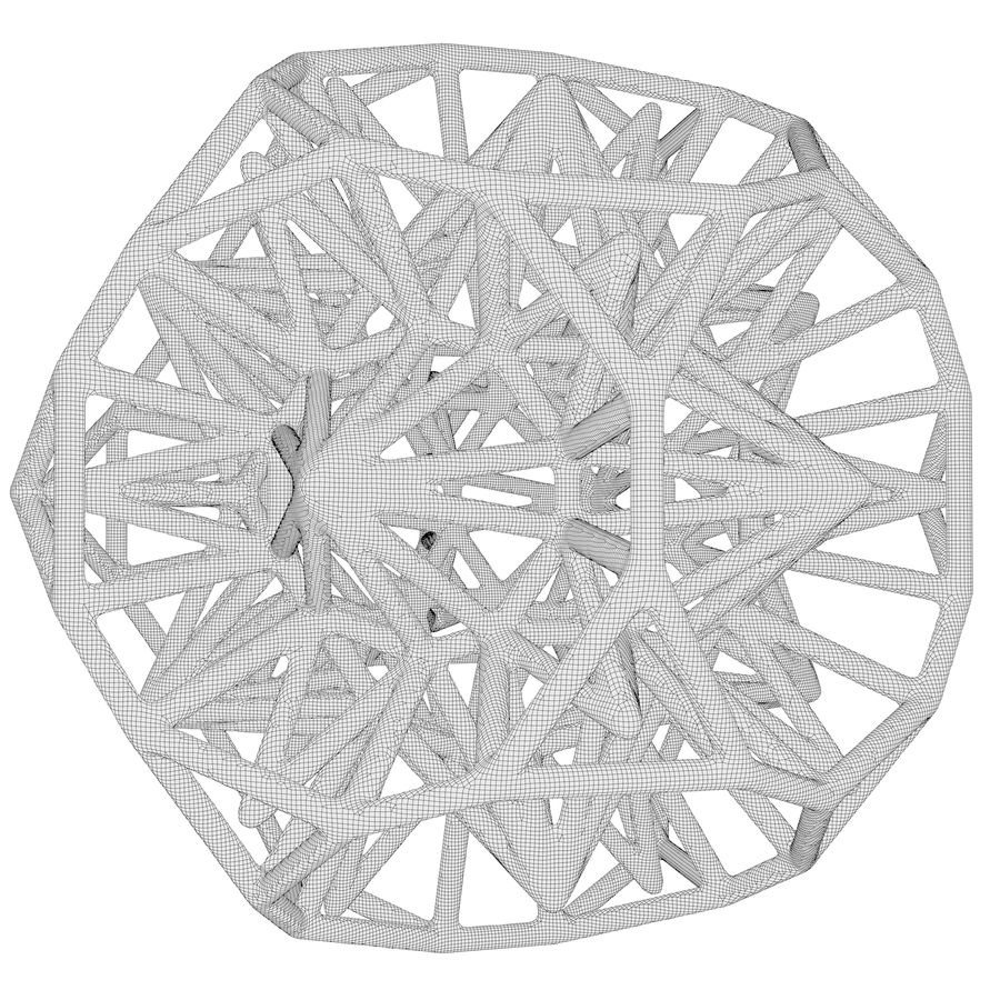Geometric Shape 124 royalty-free 3d model - Preview no. 6