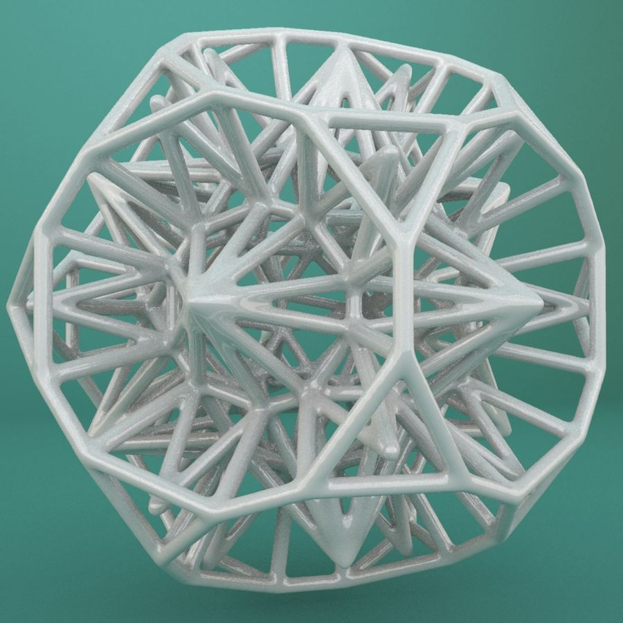 Geometric Shape 124 royalty-free 3d model - Preview no. 1