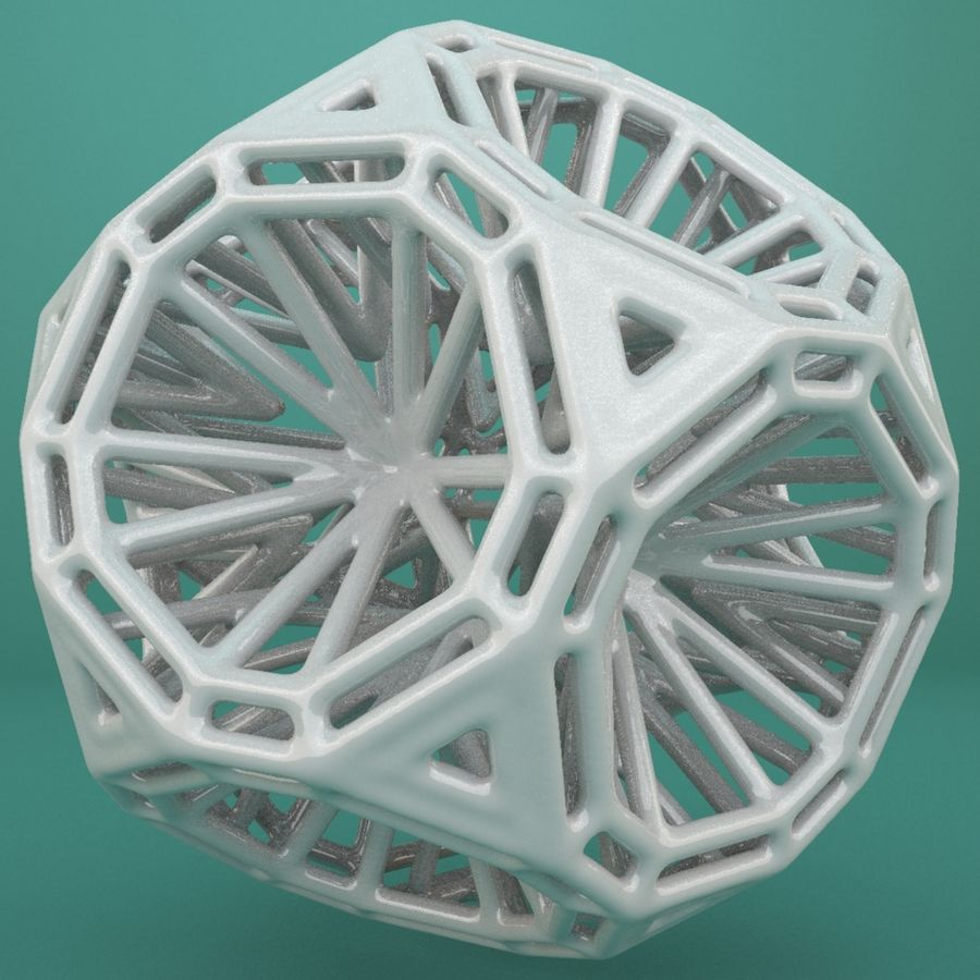 Geometric Shape 125 royalty-free 3d model - Preview no. 5