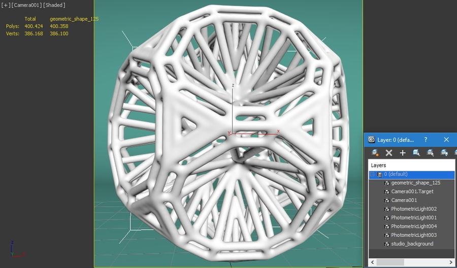 Geometric Shape 125 royalty-free 3d model - Preview no. 8