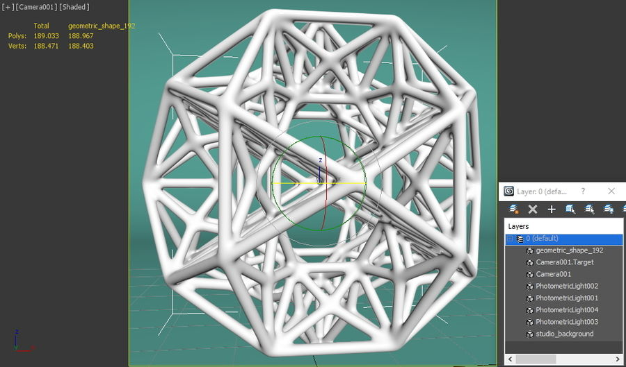 Geometric Shape 192 royalty-free 3d model - Preview no. 8