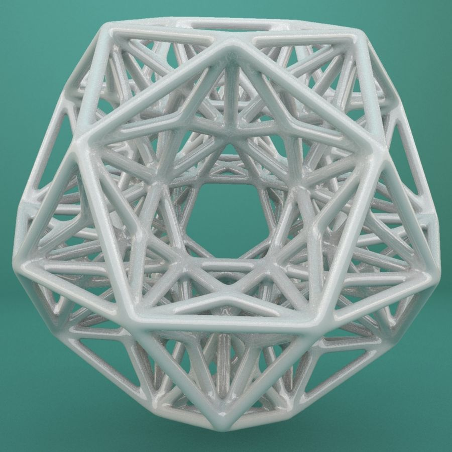 Geometric Shape 192 royalty-free 3d model - Preview no. 2