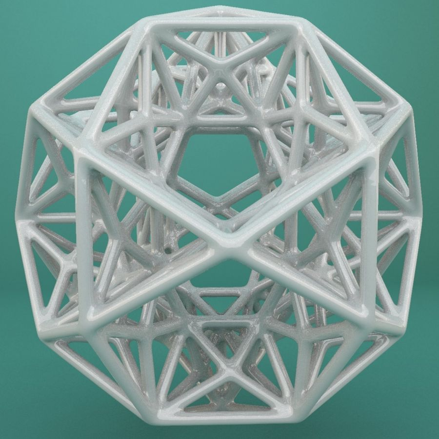 Geometric Shape 192 royalty-free 3d model - Preview no. 3