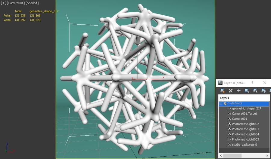 Geometric Shape 217 royalty-free 3d model - Preview no. 8