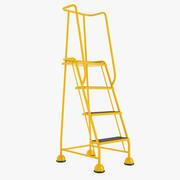 4 Tread Step Ladder 01 3d model