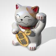 운이 좋은 고양이 3d model