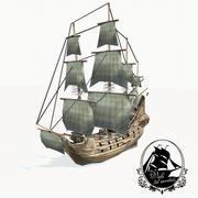 帆船 3d model