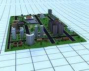 Stadt-Layout 3d model