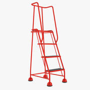 4 Tread Step Ladder 02 3d model