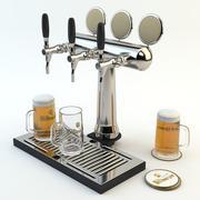 바, 펍 또는 레스토랑 장면에 적합한 High Poly 모델 : 맥주 타워, 맥주 유리, 트레이 및 맥주 매트 3d model