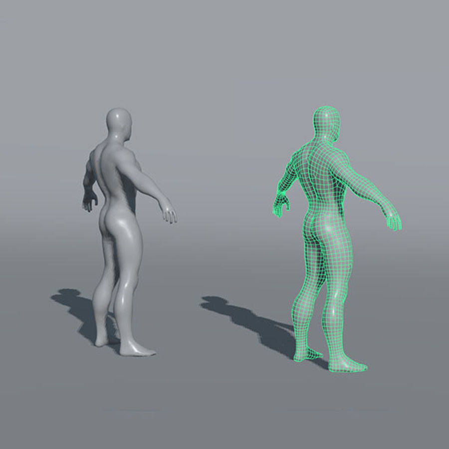 Malhas de base masculinas royalty-free 3d model - Preview no. 6