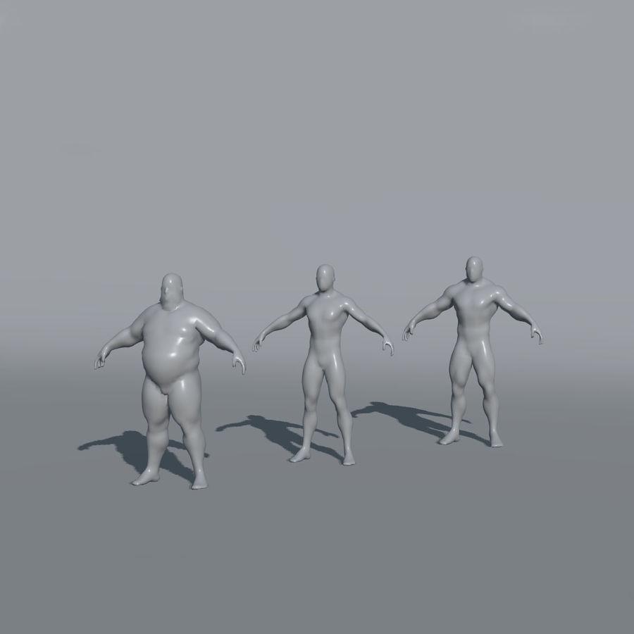 Malhas de base masculinas royalty-free 3d model - Preview no. 3