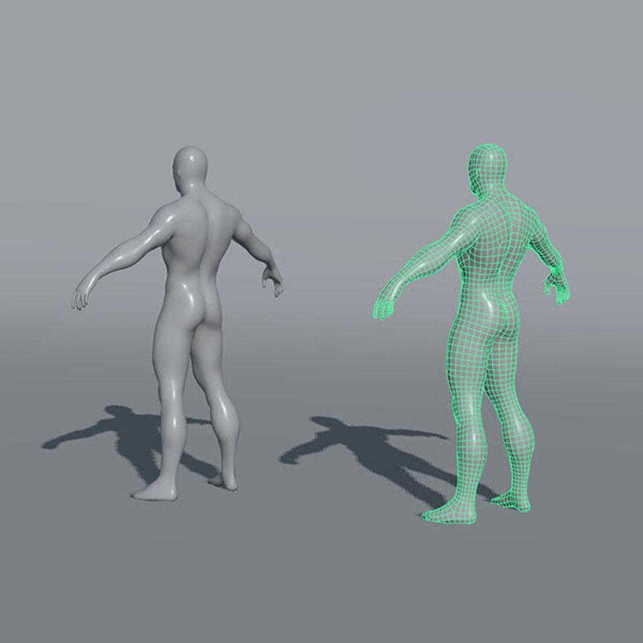 Malhas de base masculinas royalty-free 3d model - Preview no. 5