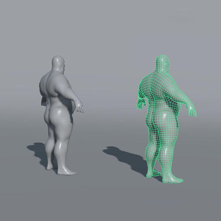 Malhas de base masculinas royalty-free 3d model - Preview no. 10