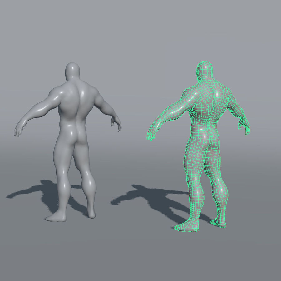 Malhas de base masculinas royalty-free 3d model - Preview no. 13
