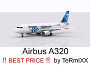 Airbus A320 EgyptAir modelo 3d