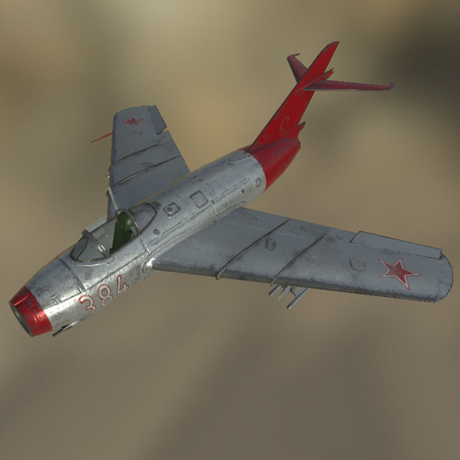MIG_15 royalty-free 3d model - Preview no. 2