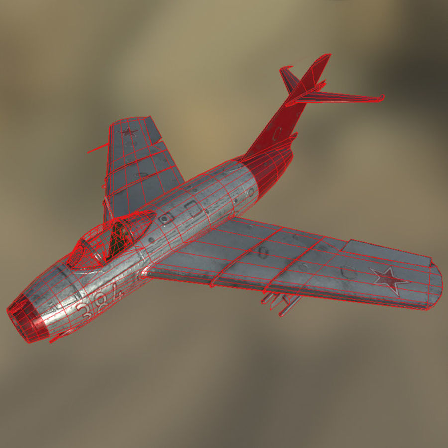 MIG_15 royalty-free 3d model - Preview no. 3