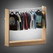 T-shirts en shirts op hangers 3d model