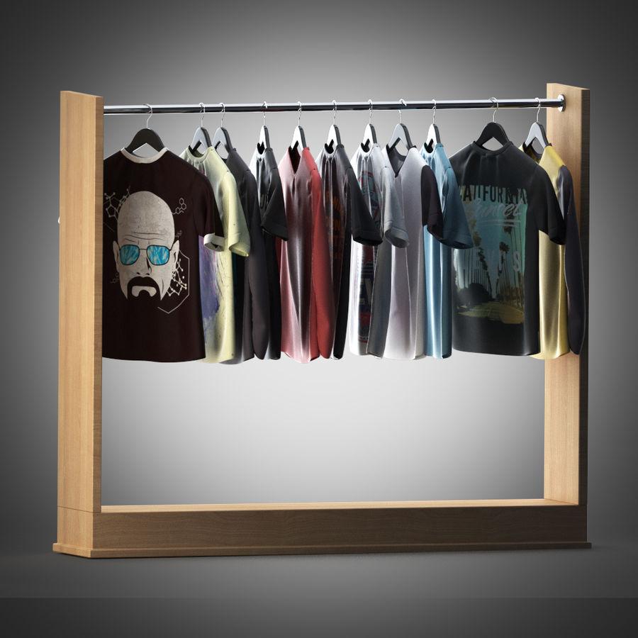 Camisetas y camisas en perchas royalty-free modelo 3d - Preview no. 3