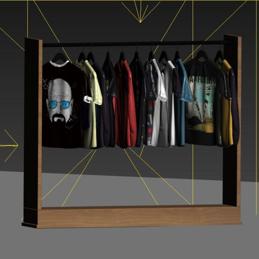 Camisetas y camisas en perchas royalty-free modelo 3d - Preview no. 4