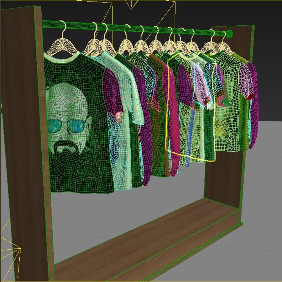 Camisetas y camisas en perchas royalty-free modelo 3d - Preview no. 6