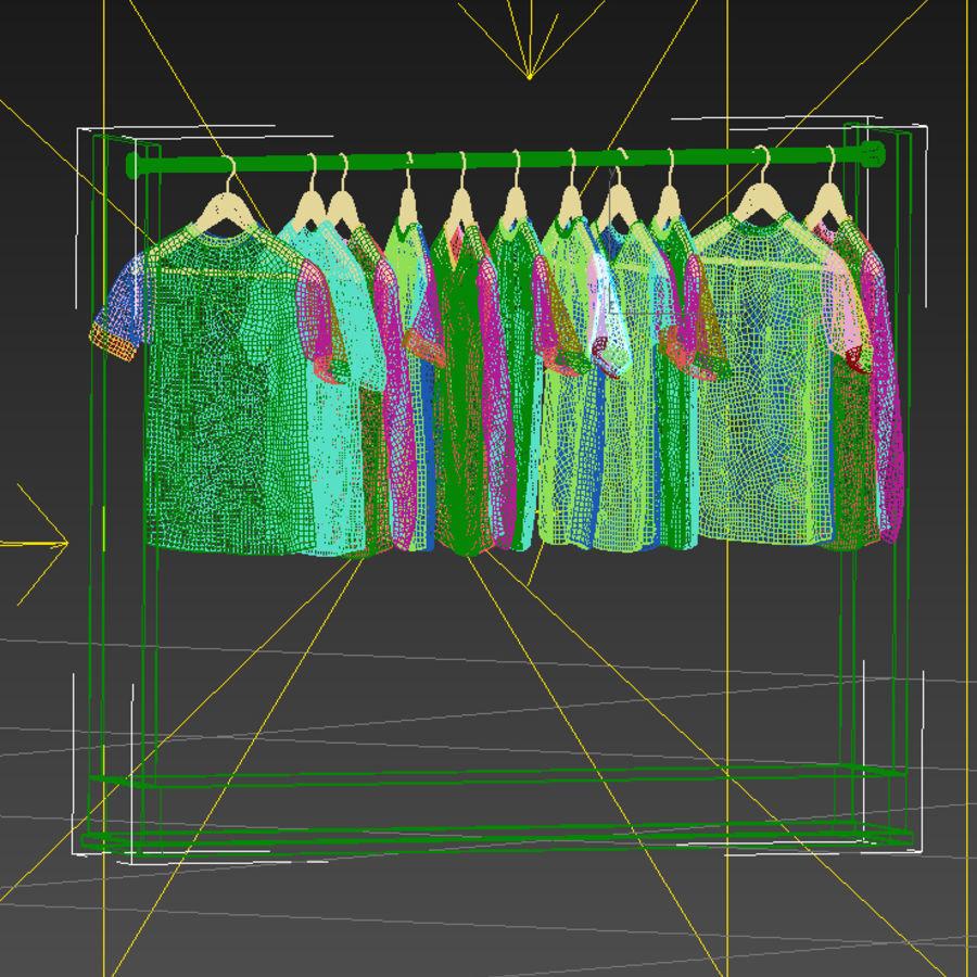 Camisetas y camisas en perchas royalty-free modelo 3d - Preview no. 5