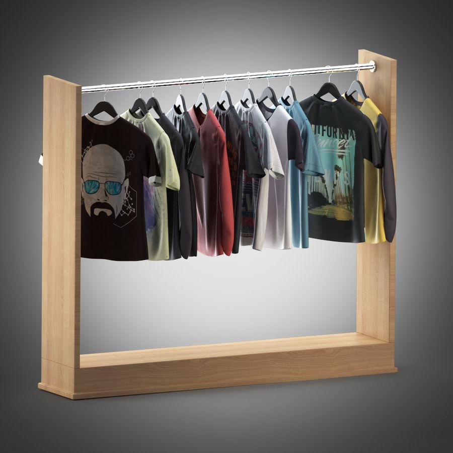 Camisetas y camisas en perchas royalty-free modelo 3d - Preview no. 1